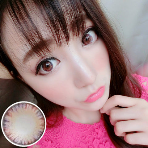 Contact lenses RT Rui pupil - cake four-color (Pink) - Girlsight
