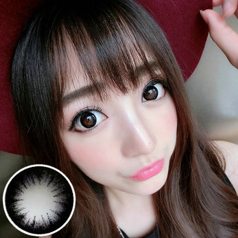 Contact lenses VASSEN- Big Beautiful Eyes (Black) - Girlsight