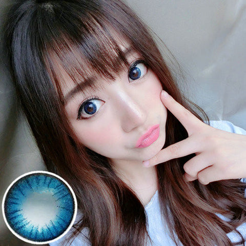 Contact lenses VASSEN- Big Beautiful Eyes (Blue) - Girlsight