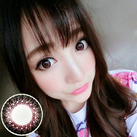 Circle lenses VASSEN- Lace color (Pink) - Girlsight