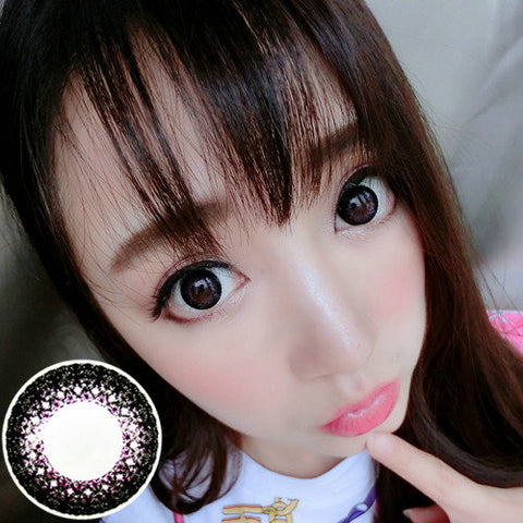 Circle lenses VASSEN- Lace color (purple) - Girlsight