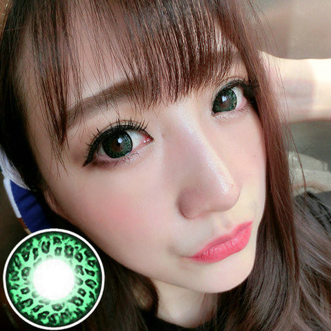 Circle lenses RT Rui pupil -  Large Leopard (Green) - Girlsight