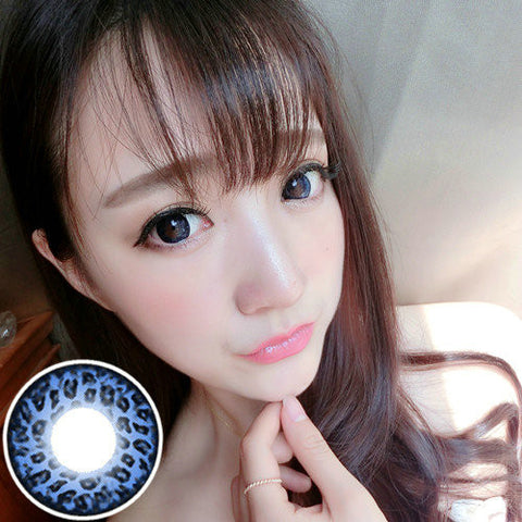 Circle lenses RT Rui pupil -  Large Leopard (Blue) - Girlsight