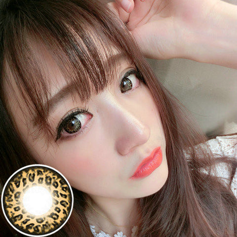 Circle lenses RT Rui pupil -  Large Leopard (Yellow) - Girlsight