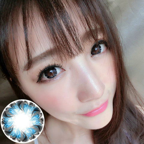 Circle lenses RT Rui pupil - small pudding (Blue) - Girlsight