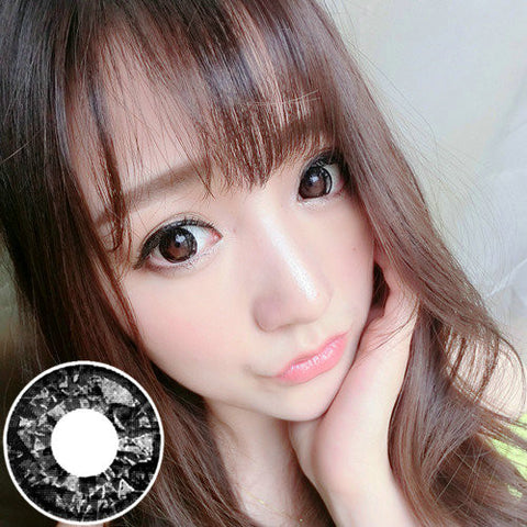 Circle lenses RT Rui pupil -  Diamond Sweetheart (Black) - Girlsight