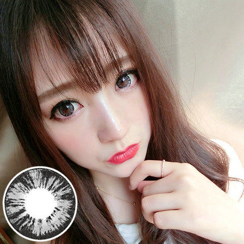 Circle lenses RT Rui pupil -  Diamond Sweetheart (Grey) - Girlsight