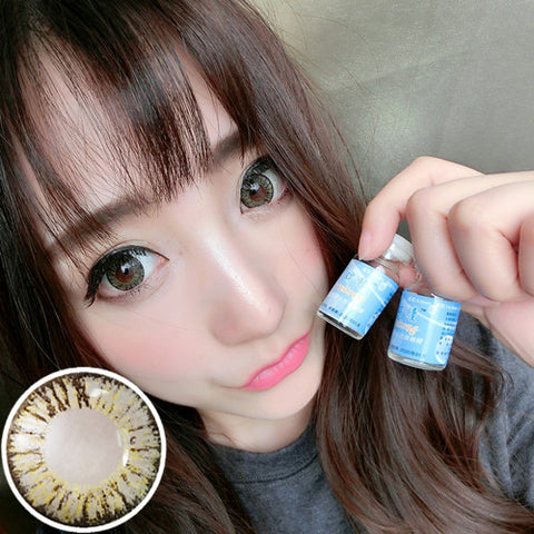 Contact lenses RT Rui pupil - pineapple three-color (Grey) - Girlsight