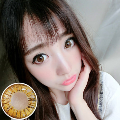 Contact lenses RT Rui pupil - pineapple three-color (brown) - Girlsight