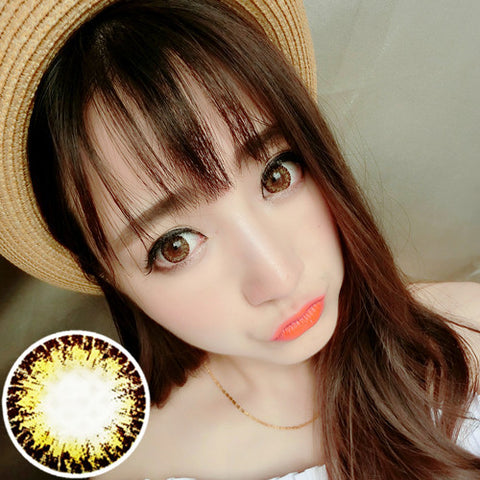 Contact lenses RT Rui pupil - Glow dark forest (Brown) - Girlsight