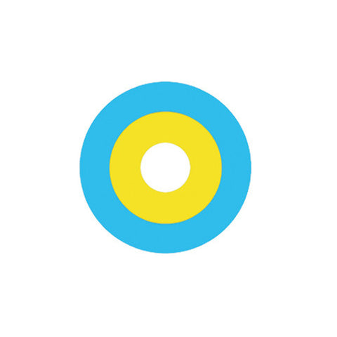 Circle lenses cosplay  -   Blue and yellow circle - Girlsight  - 1