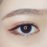 Circle lenses CICI Hee Love -   Small gray ring (blue)