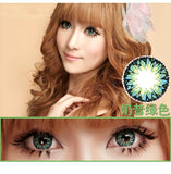 Circle lenses CICI Hee Love -   Rose milkshake (Green) - Girlsight  - 2