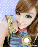 Circle lenses EYEWISH  -   Great Plum(Brown) - Girlsight  - 2
