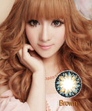 Circle lenses CICI Hee Love -   Rose milkshake (Brown) - Girlsight  - 3