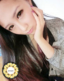 Circle lenses CICI Hee Love -  Sakura tri-color (Brown) - Girlsight  - 4