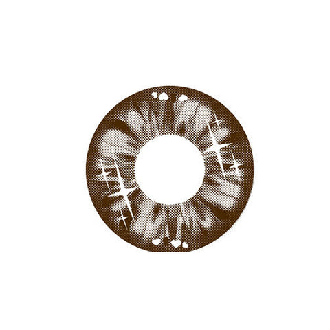 Circle lenses EYEWISH  -  If Qi (Brown) - Girlsight  - 1