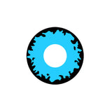 Circle lenses cosplay  -    Blue-black flame - Girlsight  - 1