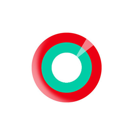 Circle lenses cosplay  -   Red and Green Circle - Girlsight  - 1