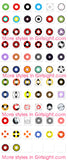 Circle lenses cosplay  -   Red-yellow circle - Girlsight  - 2