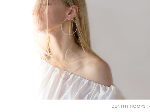 Jenny Bird Zenith Hoops in Gold and Silver