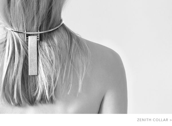 Jenny Bird Zenith Collar Necklace in Silver