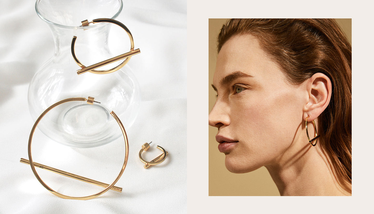 Shop Trust Hoops earrings by Jenny Bird in Small, Medium and Large
