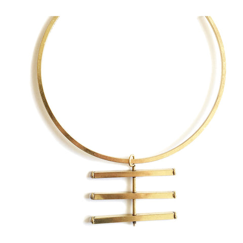 Alt Collar in Gold by Jenny Bird