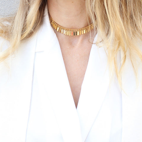 Jenny Bird Raya Choker in High Polish Gold