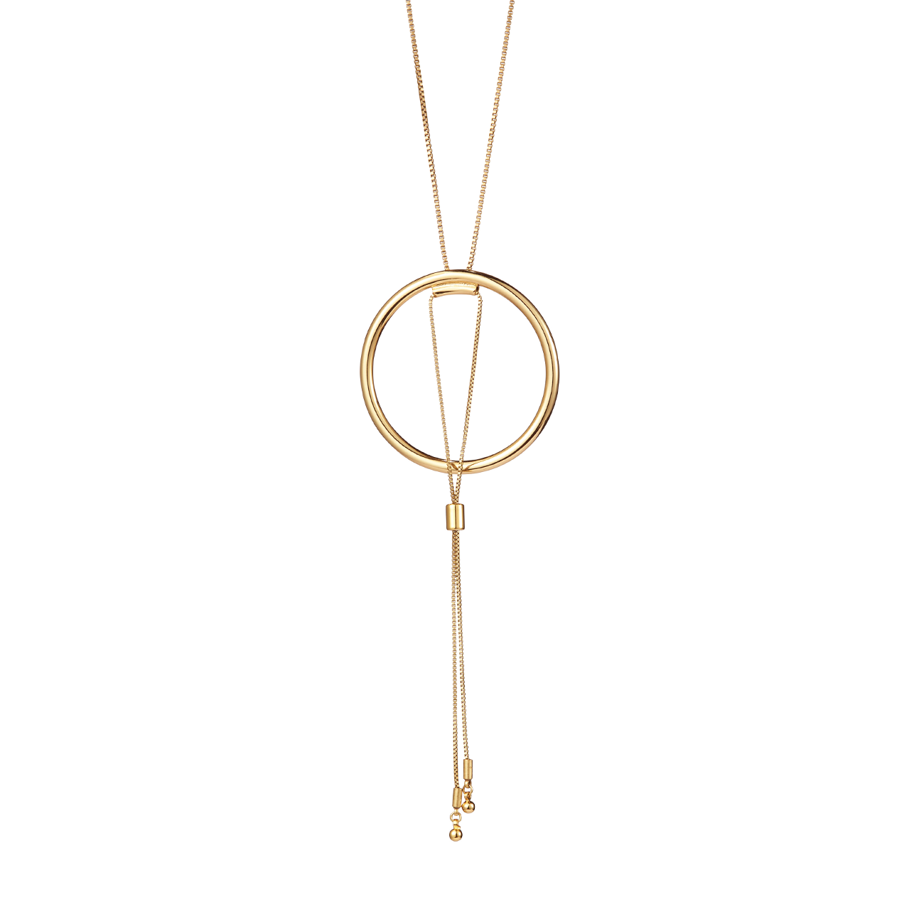 Gold adjustable Sadie Pendant necklace by Jenny Bird.