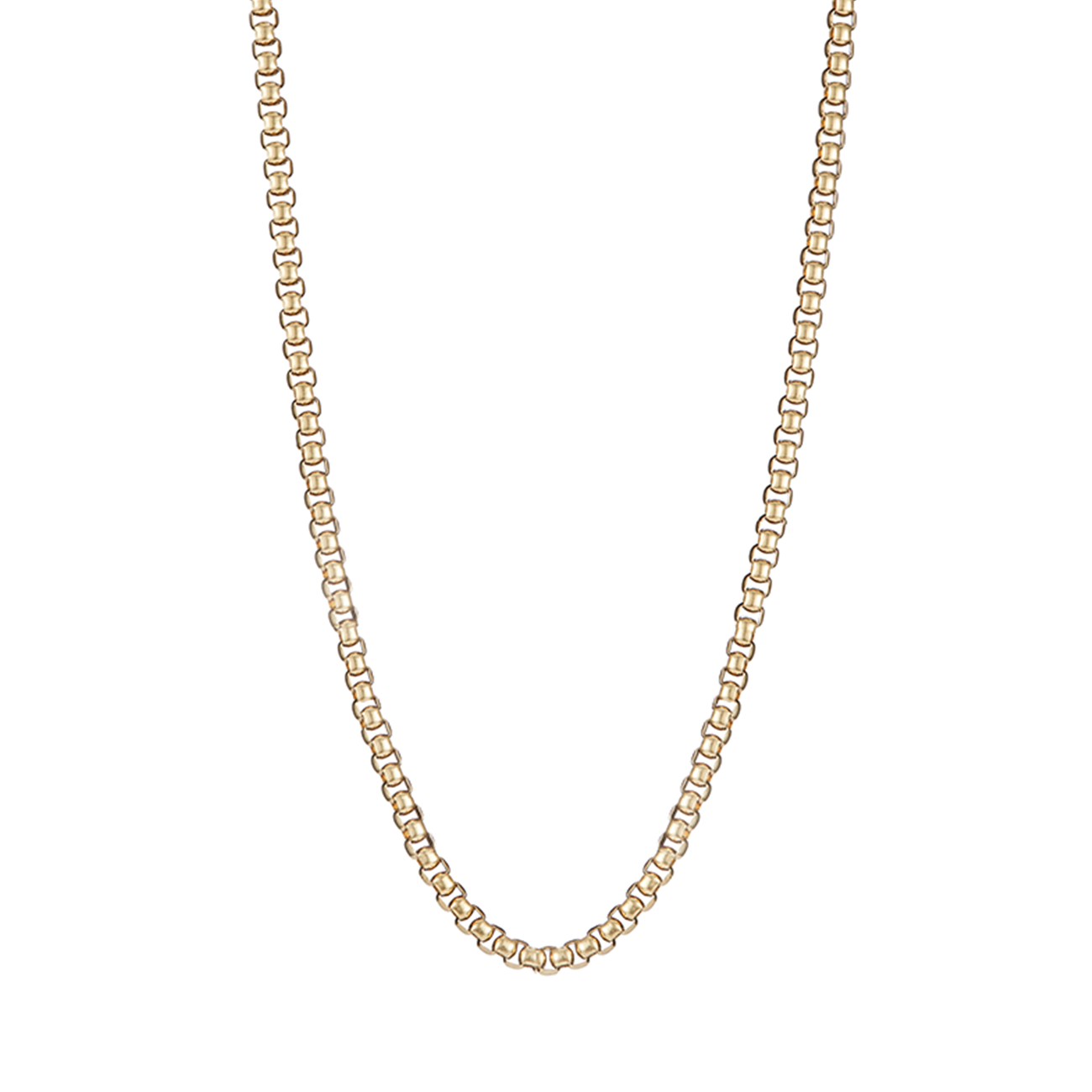 Extra long antique chain Freya Necklace in gold by JENNY BIRD