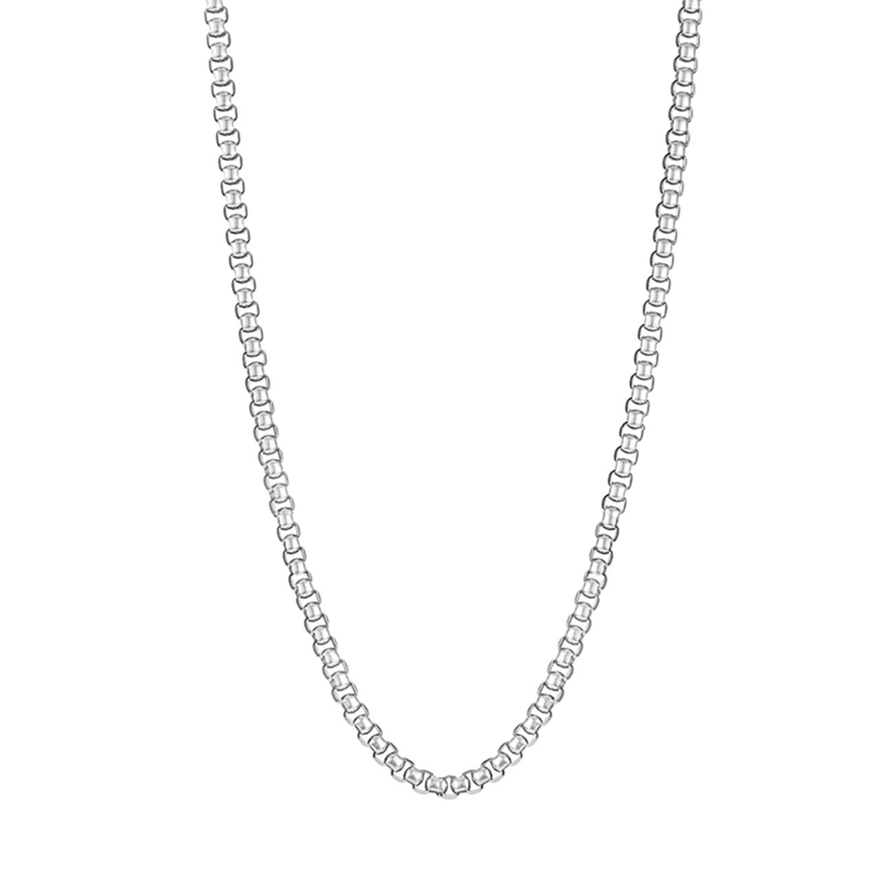 Extra long antique chain Freya Necklace in silver by JENNY BIRD