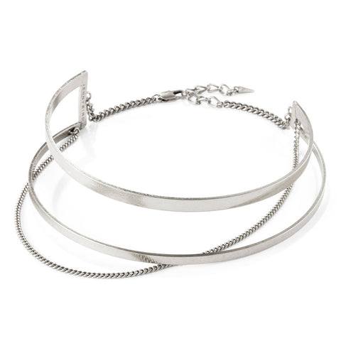 River Collar in Silver by Jenny Bird