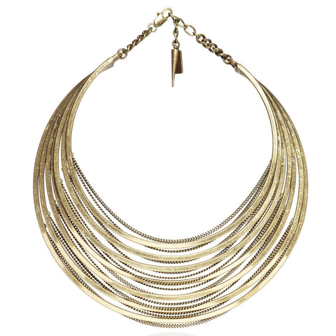 Illa Collar in Gold Ox by Jenny Bird