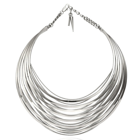 Illa Collar in High Polish Silver by Jenny Bird