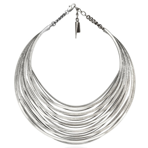 Illa Collar in Silver Ox by Jenny Bird