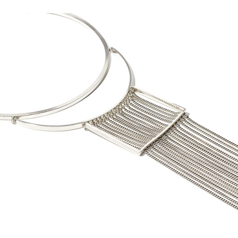 Jenny Bird Fallingwater Collar in High Polish Silver