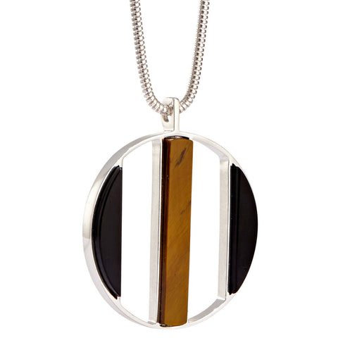 Oriel Pendant by Jenny Bird in High Polish Silver