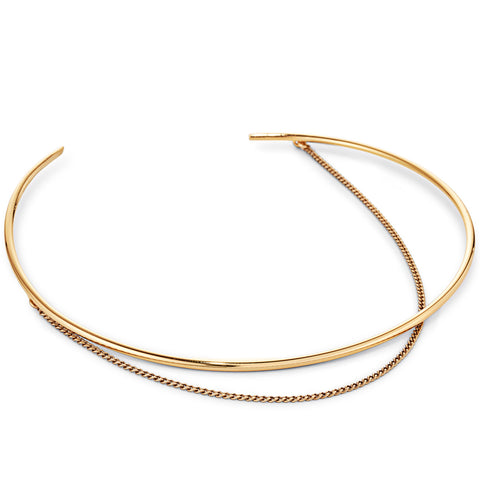Rill Choker By Jenny Bird in Gold
