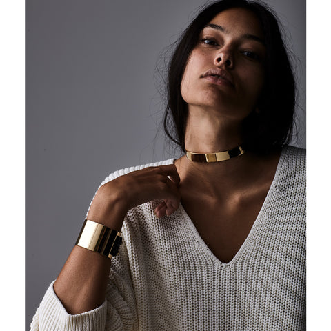 The Jane Choker by Jenny Bird in High Polish Gold