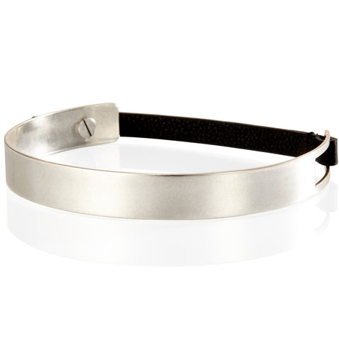 The Jane Choker by Jenny Bird in Silver Ox