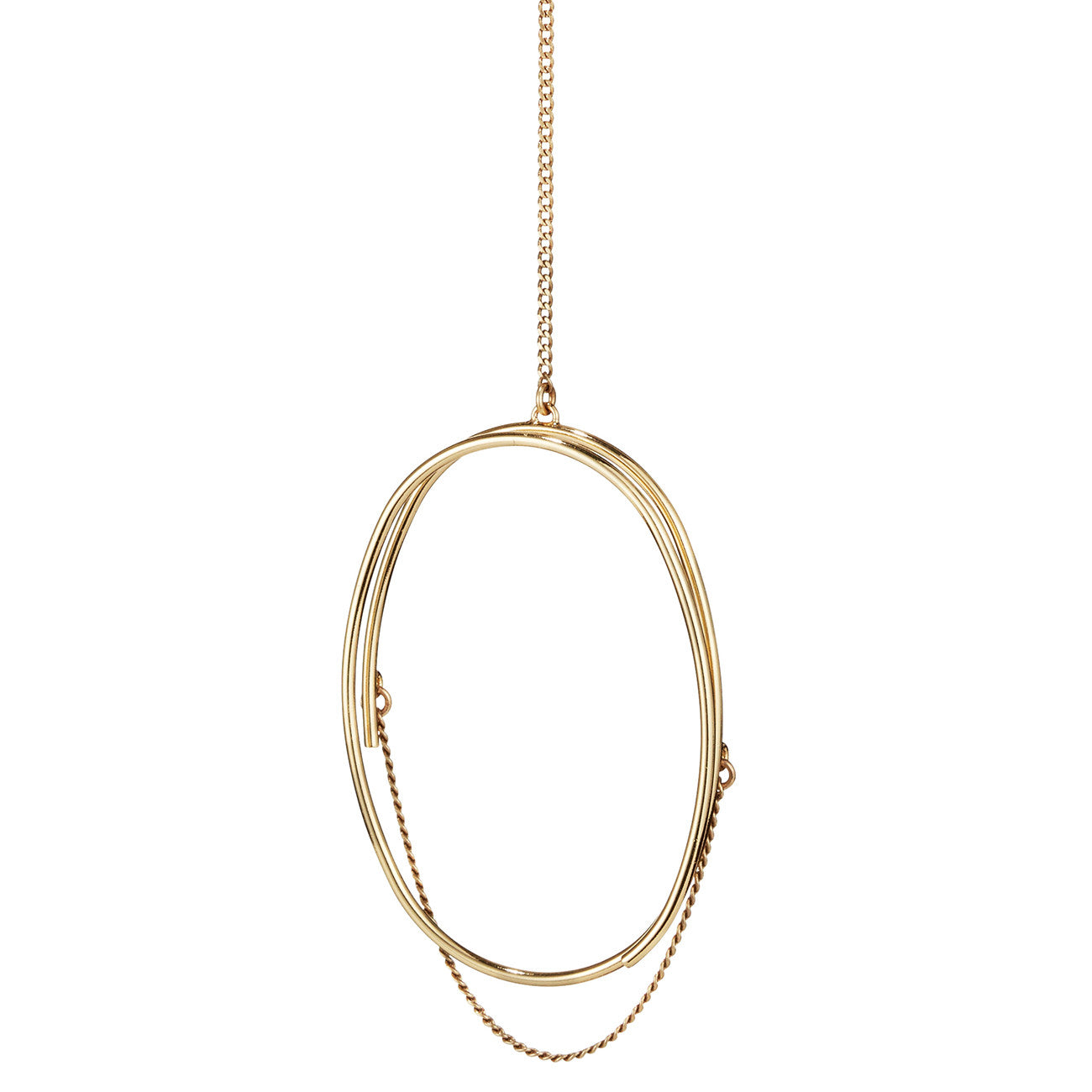 Rill Pendant Necklace By Jenny Bird in Gold