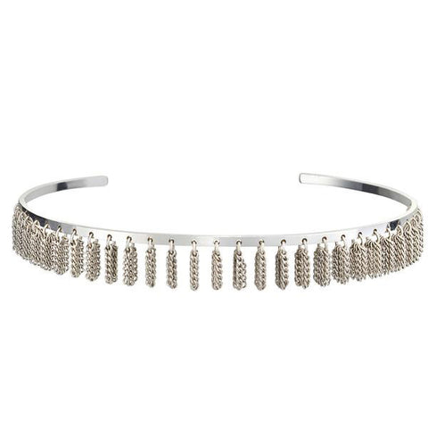 Jenny Bird Collins Ave. Choker in High Polish Silver