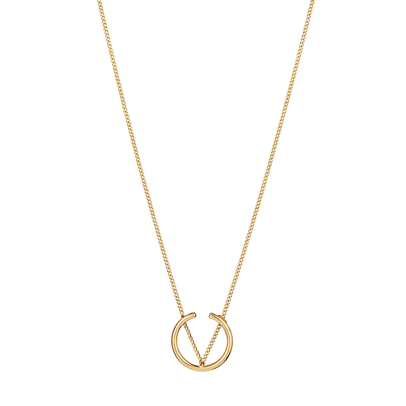 Arc Pendant Necklace By Jenny Bird in Gold