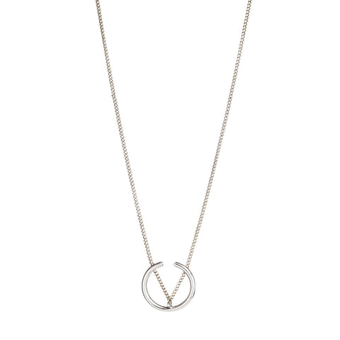 Arc Pendant Necklace By Jenny Bird in Silver