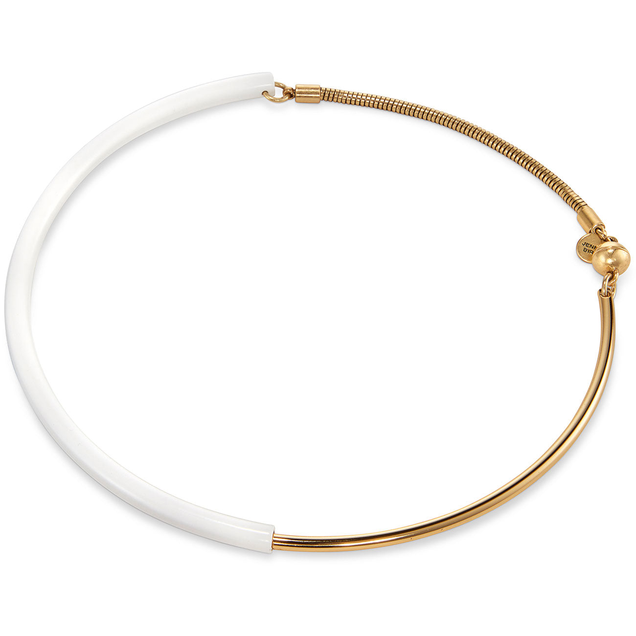 The Small Lola Collar Necklace by Jenny Bird in White