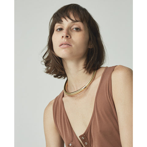 The Large Lola Collar by Jenny Bird in High Polish Gold