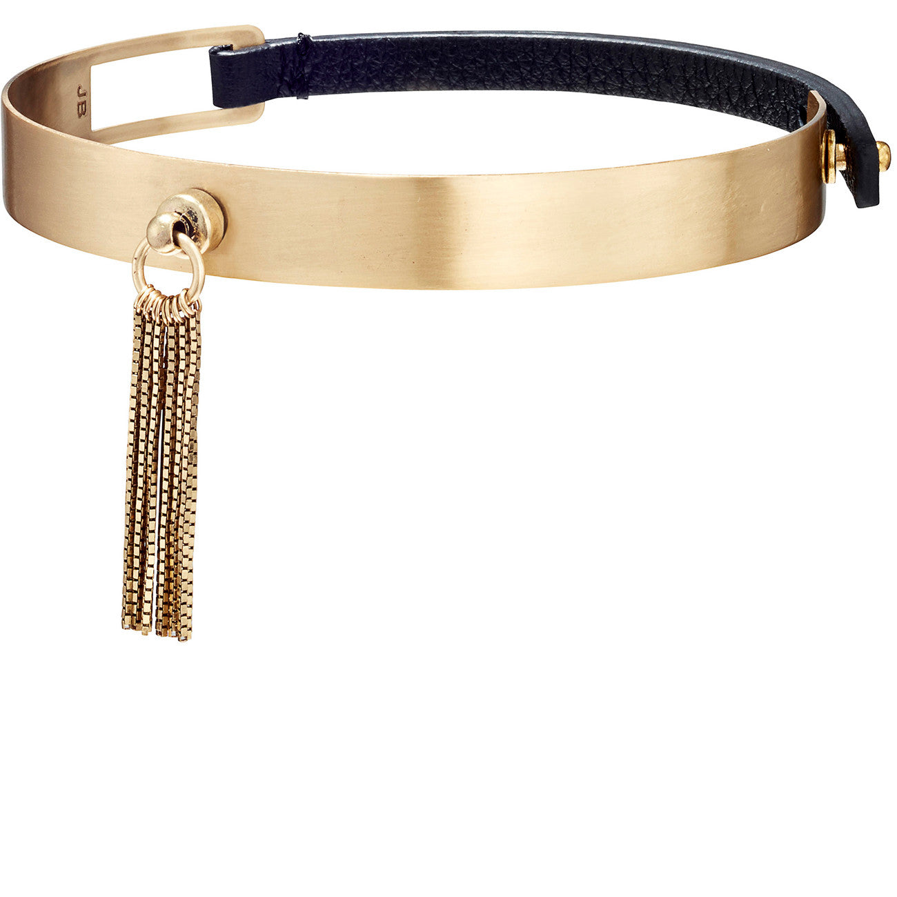 The Muse Choker by Jenny Bird in Brass with Short Tassel