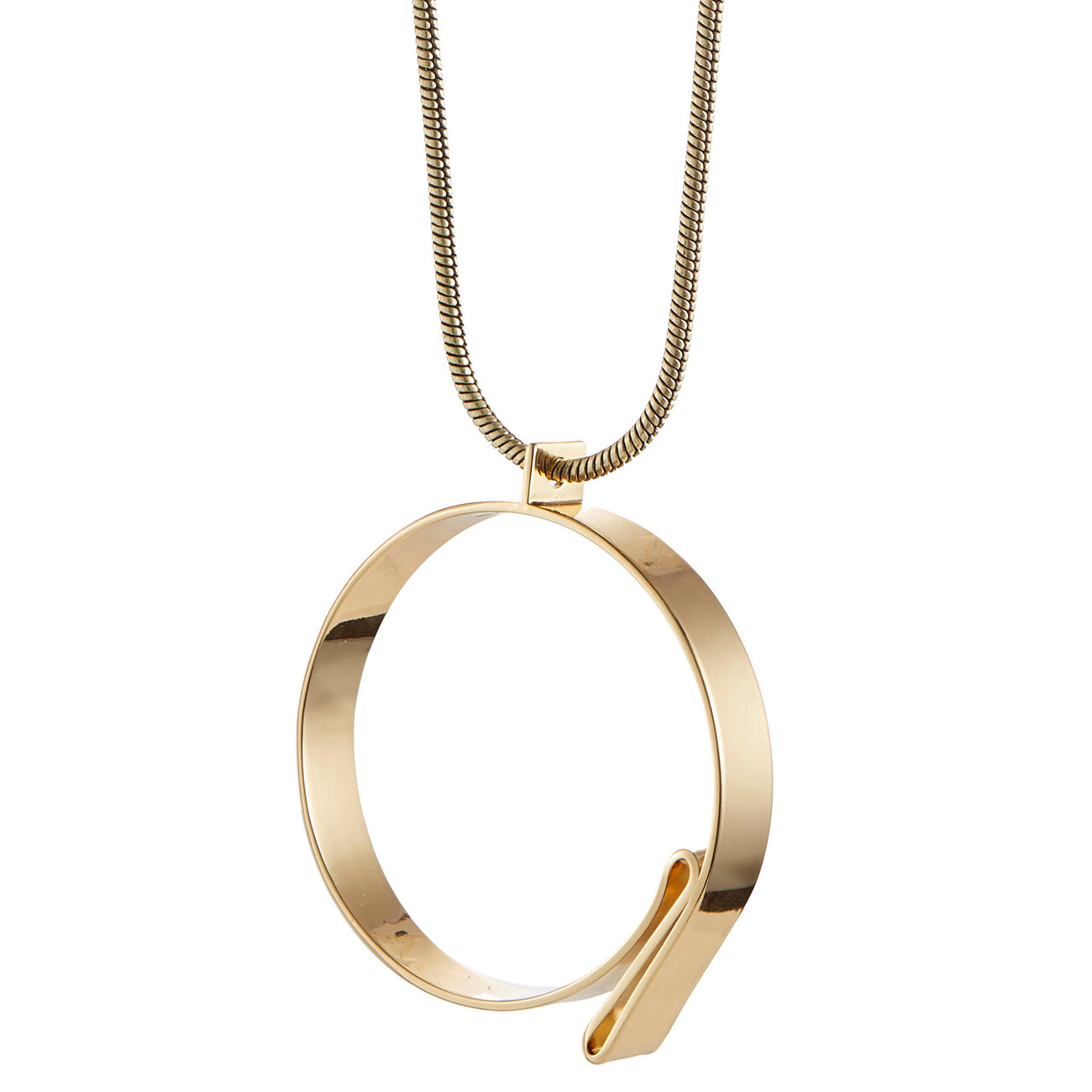 The Serra Pendant by Jenny Bird in High Polish Gold