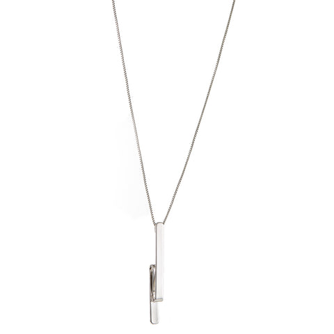 The Tidal Pendant by Jenny Bird in Rhodium